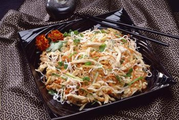 Glass noodles are an excellent source of carbs.