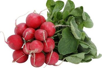 Radishes are one of the earliest vegetables to harvest in the spring.