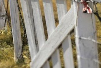 Old wood gates add rustic charm to any yard.