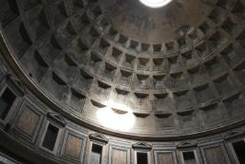 The Pantheon, in Rome, is the world's largest concrete dome ceiling.