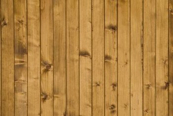 Pine paneling often has grooves that add visual interest, but these can make paint removal difficult.