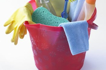 Keep cleaning supplies in a handy location.