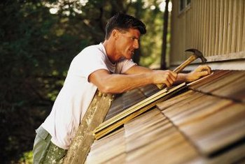 Roofing felt sits under the shingles to help prevent leaks.