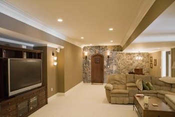 Long rooms can be divided into two living areas.