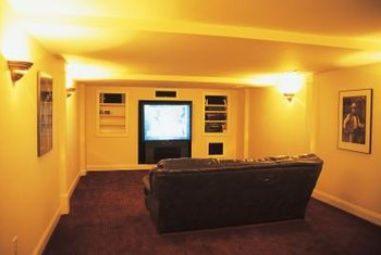 A light color may be too reflective for your media room's walls.
