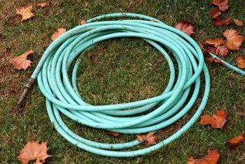 Don't leave your garden hose out when freezing temperatures are coming.