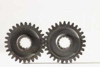 Worn gears can cause funky wheel behavior in a self-propelled mower.