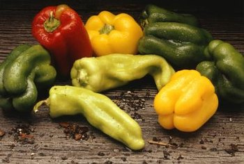 Peppers come in many shapes, colors and sizes.