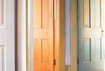 Trim the bottom off doors to repair splintering.