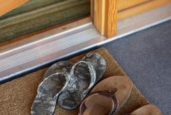 Carpet doormats allow you to recycle your leftover carpet in a useful way.