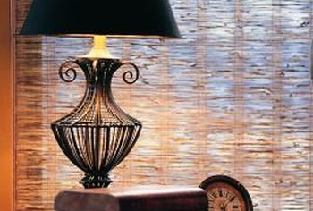 Replacing the shade can change the look of a lamp.