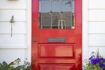 Paint a south-facing front door red if you follow feng shui.