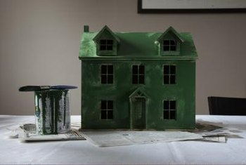 Even a particleboard dollhouse looks better with the right coat of paint.