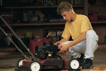 Small mower engines' oil changes require less than a quart of oil.