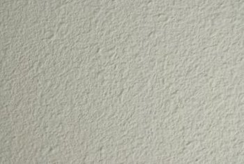 This plaster finish could be installed on drywall.