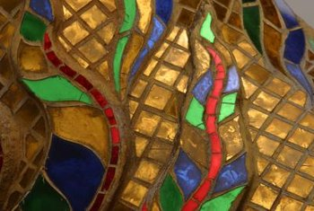 Mosaic tiles can be used to create beautiful art.