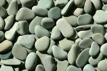 Decorative rock comes in designer colors.