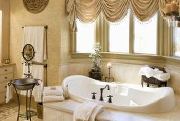 Color washing can give your bathroom walls an elegant, Old World look.