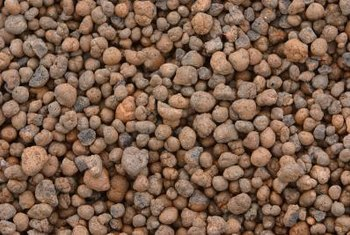 The clay pebbles are expanded and made porous when fired in a kiln.