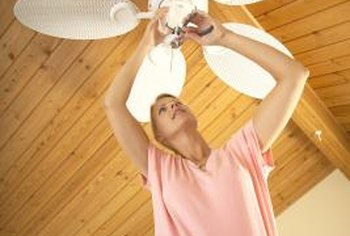 Wiring a ceiling fan doubles as an upper-arm workout.