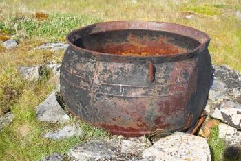 Turn a cauldron into a bright focal point in your garden.