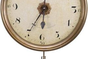 Regulator clocks are adjusted by altering the speed of the pendulum.