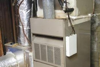 Gas furnaces are attached to the vent and ducting system for your home.