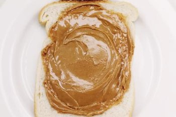 Peanut butter on white bread toast can be a snack on a low-residue diet.