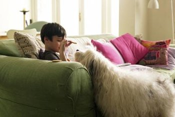 Vacuuming throw pillows regularly helps keep them clean.