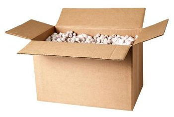 Packing peanuts can be used as a lightweight filler that allows drainage for planters.