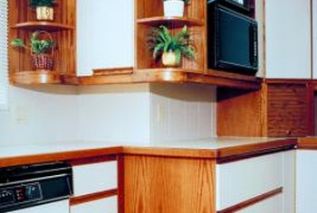 Laminate can be placed anywhere on cabinets.
