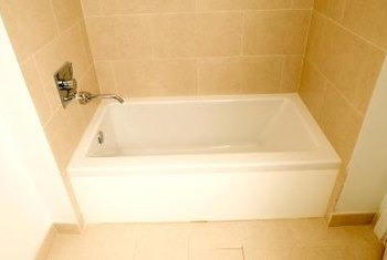 Tile Blends In With A Tub To Provide A Durable, Waterproof Area In Bathrooms . Part 94