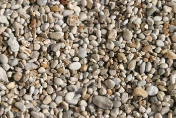 Rounded pea gravel is a more attractive and comfortable terrace material.