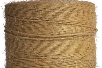 Jute is made from natural plant fibers.
