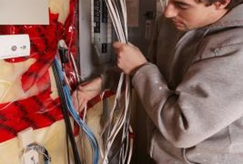 The space above and below the panel must be free of non-electrical equipment.