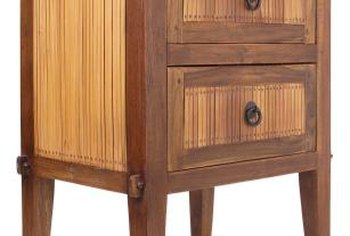 Many pieces of fine furniture combine veneers and solid wood.