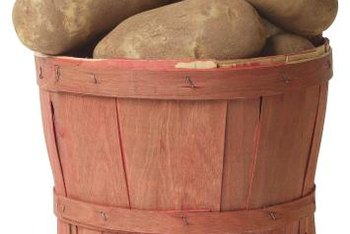 Fully mature potatoes have a tough skin that helps them stay fresh while stored.