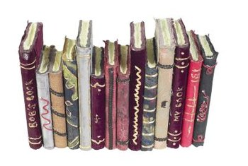 Books with gold spines can add sparkle in a bookcase.