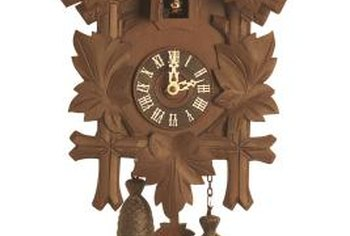 Authentic cuckoo clocks are made in Germany.