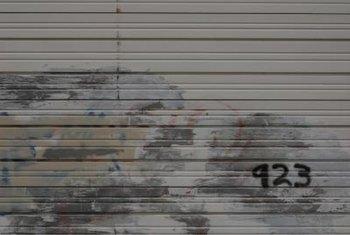 Steel Garage Door Texture how to fix a rusting bottom panel on a garage door | home guides