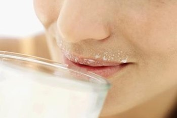 Milk probably won't cause large increases in your blood sugar levels.