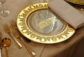 The Clinton China was used at a presidential state dinner for the Queen of England.