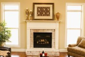 Updating a red brick fireplace provides a visual lift to an entire room. Whether you