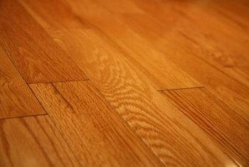 Three coats of polyurethane provide the protective finish needed on a floor.