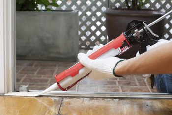 When dry, silicone caulk provides a durable, waterproof seal.