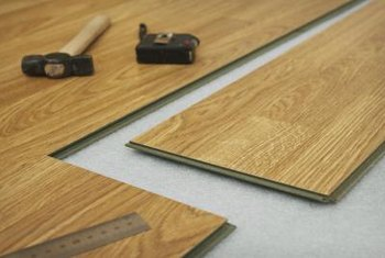 Laminate floors are an easy DIY project that offers the look of hardwood at  a fraction