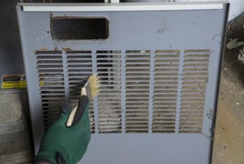 Clogged vents can be one cause of oil burner problems.