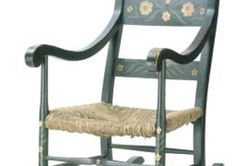 Paint an old rocker into a piece of distinctive folk art.