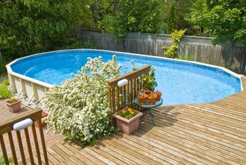 Properly maintained and repaired, an above-ground pool can last up to 15 years.