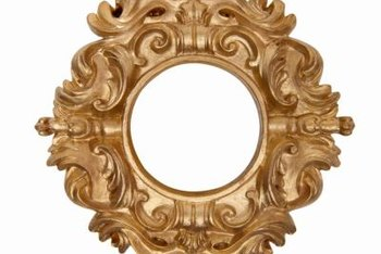 Ornate antique plaster frames are prone to chips and damage.